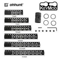 ohhunt Tactical 7 9 10 12 13.5 15 AR15 Rail NSR Free Float Keymod Handguard Picatinny Rail with Steel Barrel Nut