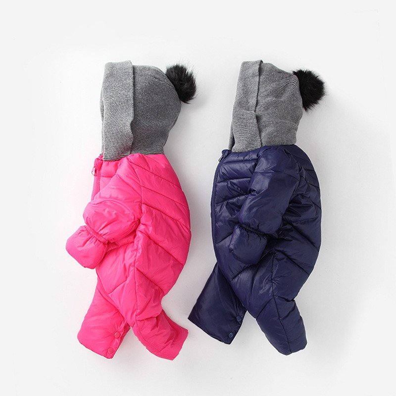Newborn Baby Boy Clothing Down Winter Girl Waterproof Romper Infant Babies Clothes Meninas Bear Down Snowsuit Toddler Jumpsuit newborn infant baby romper cute rabbit new born jumpsuit clothing girl boy baby bear clothes toddler romper costumes