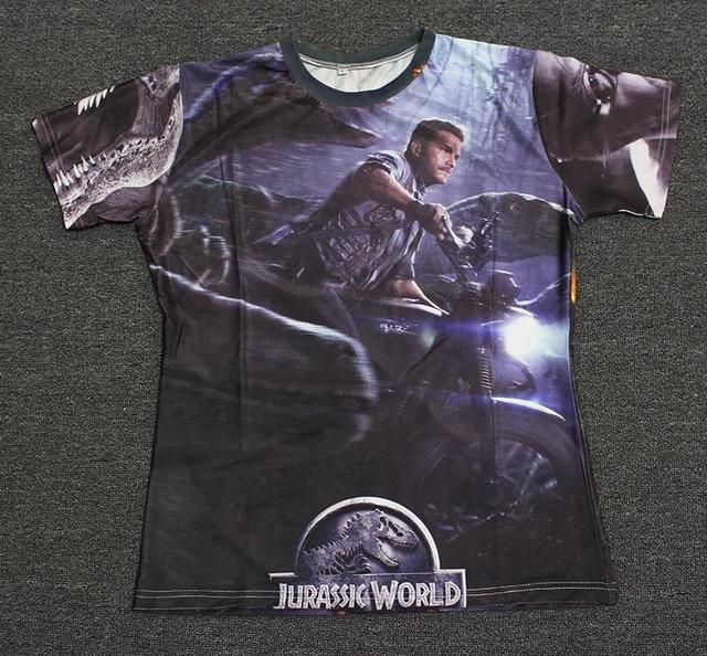 e0eb3b1db83 2015 Newest Design t shirt Jurassic Park Series Movies Jurassic World  Poster chris pratt tshirt women mens graphic tees
