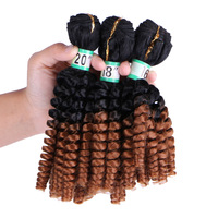 DELICE 16 20inch 3pcs Pack T1 30 Black Brown Curly Hair Weaving Women S Heat Resistance