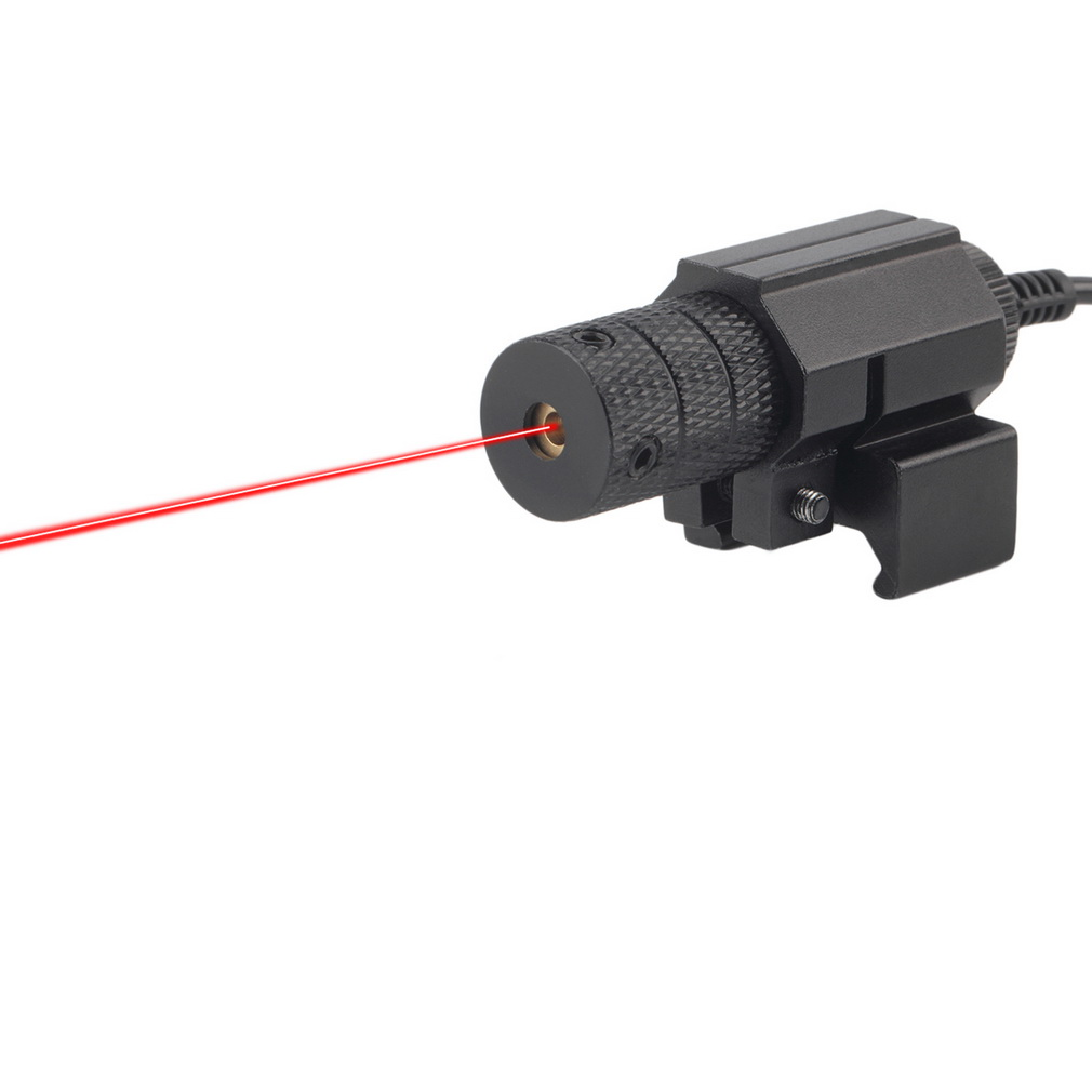 1 Set Red Dot Mini Red Laser Tactical Sight With Tail Switch Scope Pistol with Lengthen Rat Tail Hunting Optics