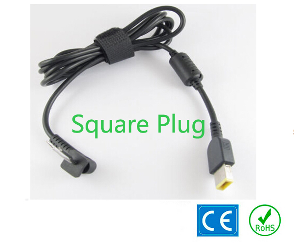 1.5m DC Plug Power Supply Square Plug Connector With Cord Cable For Lenovo Thinkpad X1 Carbon M490S Yoga 11 13 Square