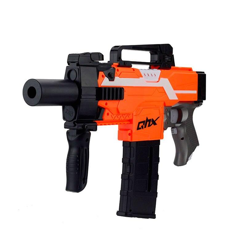 Automatic Electric Soft Bullet Toy Gun Launcher Gun Weapon Outdoor Game Armas Orange Plastic Machine Gun