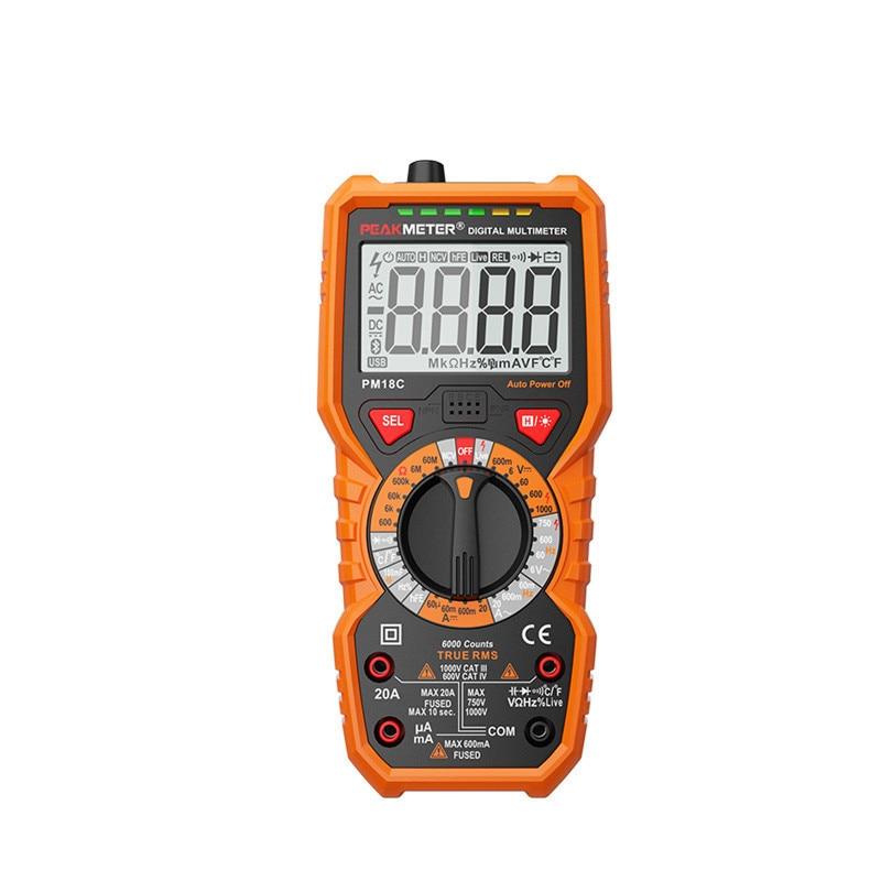 Digital Multimeter Measuring Voltage Current Resistance Capacitance Frequency Temperature NCV Live Line Tester m051 new hantek 365e bluetooth voltage current resistance capacitance digital multimeter