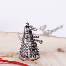 Dr Doctor Who Dalek necklace vintage retro alien robot antique silver pendant jewelry for men and women wholesale