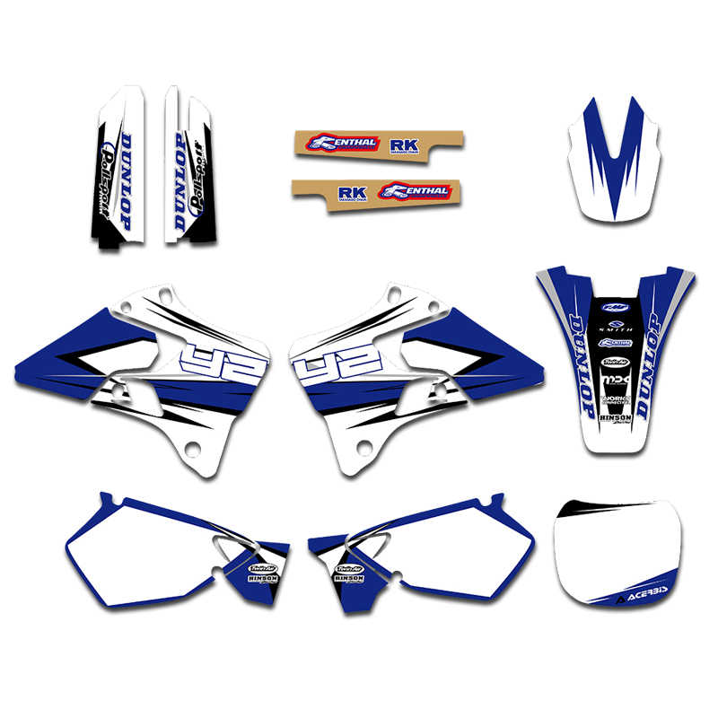 1996 1997 1998 1999 2000 2001 Yz 125 250 Graphics Yamaha Yz125 Yz250 Decal Kit Decals Stickers Motorcycle Accessories