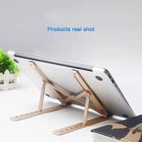 Greatlizard Portable Notebook Stand Laptop Bracket Aluminum Alloy Adjustment Lift Shelf Can be Stored in a Computer Bag