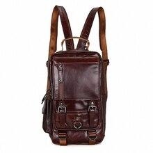 Горячие Новый дизайн моды натуральная кожа сумка груди пакет мужчины сумка винтаж сумки на ремне рюкзак bolsa masculina LI-1648