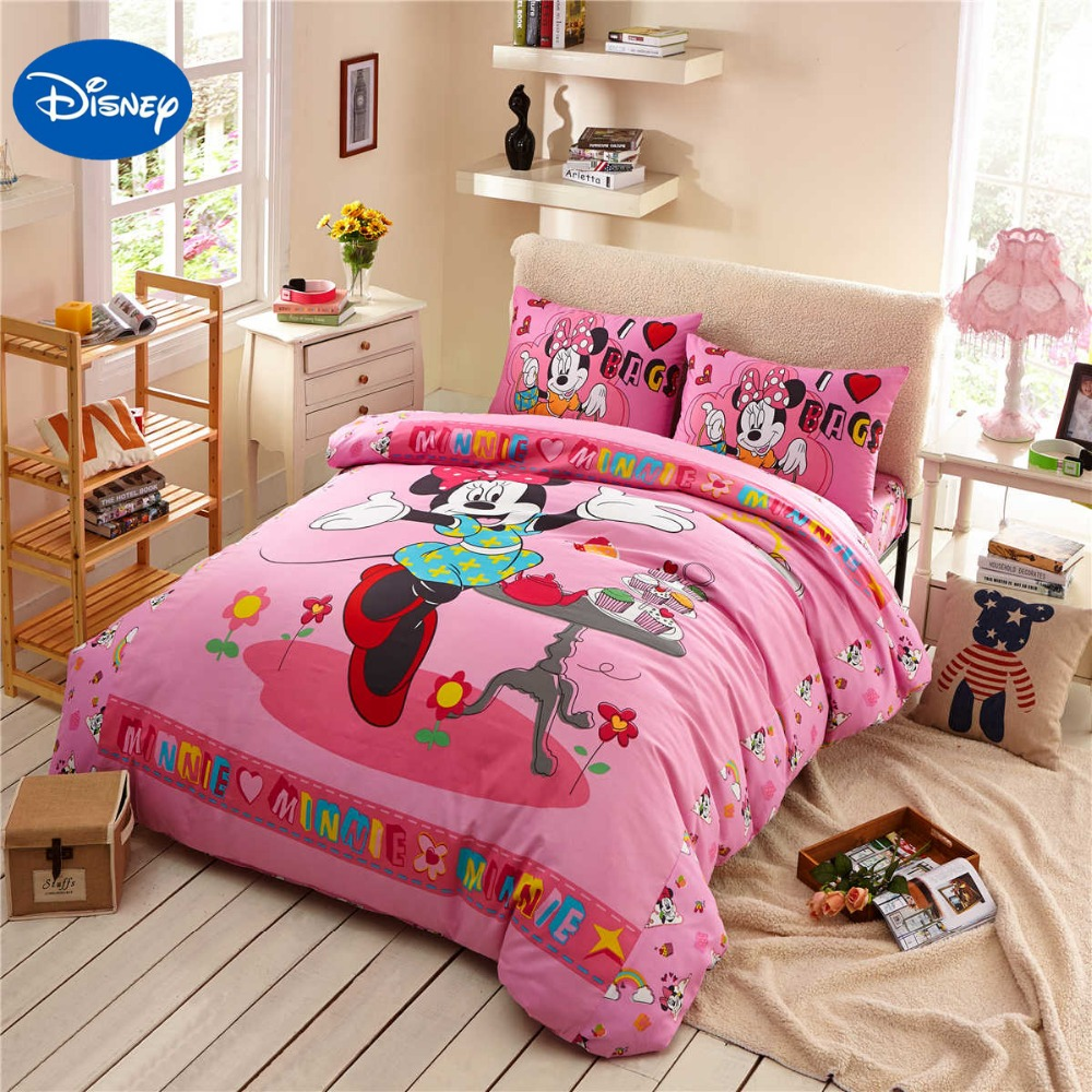 Dance Minnie Mouse Bedding Sets Cotton Bedclothes Cartoon