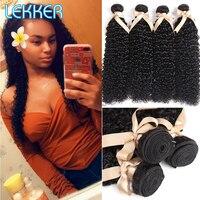 Lekker Brazilian Kinky Curly Hair Wave Weave 2 3 4 Bundles Deal Ali Wavy Human Curly Hair Bundles Human Hair Extensions Bundles