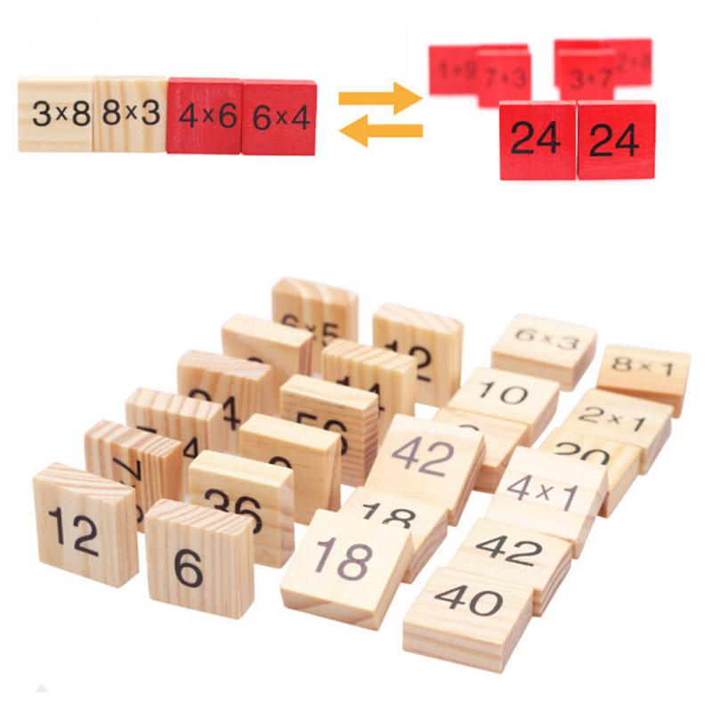 Math Multiplication table Toys colorful wooden double side board educational Toys