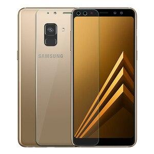 Image 2 - 9 H de Vidro Temperado Para Samsung Galaxy A8 2018 Temperado Tela de Vidro Para Samsung Galaxy A8 2018 A530 A530f SM a530F protetor Flim