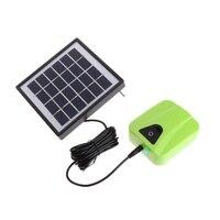 Aquarium Solar Powered Charging Oxygenator Air Pump Oxygen Aerator Fish Tank Solar Oxygenator AC DC Oxygen