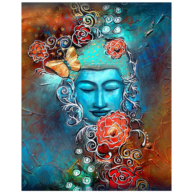 """5D DIY Full Square/Round Diamond Painting """"Religion Buddha statue"""" 3D Embroidery Cross Stitch Diamant Mosaic Friend Gift"""