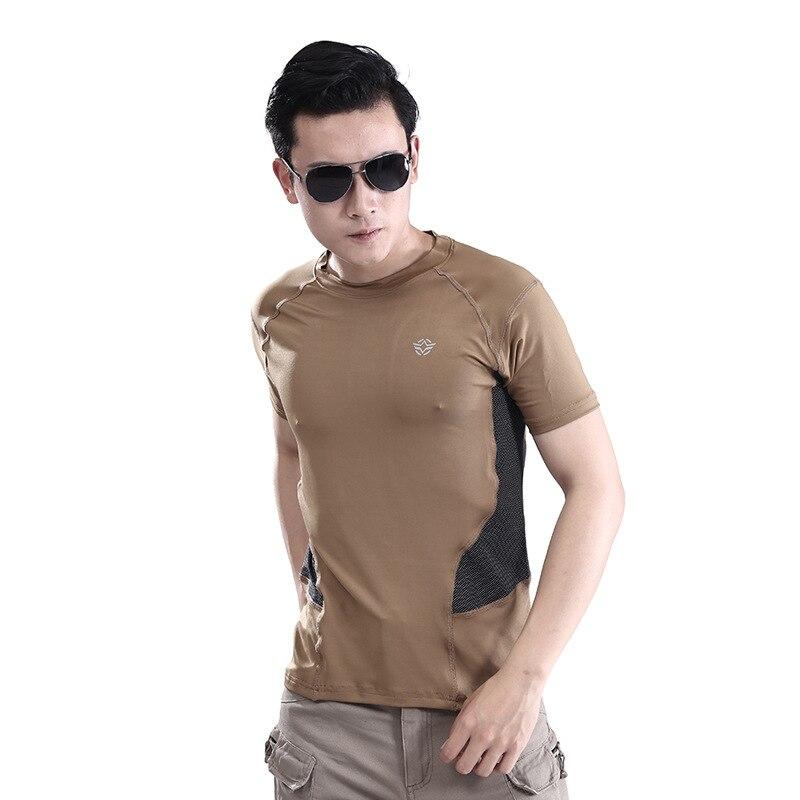 Prix pour 2016 Homme En Plein Air T-shirt Hommes Coton Armée Tactique T-shirt de Combat Militaire Sport Randonnée Camp Hommes T Shirts T-shirts