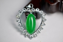 Buy jade heart and get free shipping on aliexpress exquisite malay jade heart pendant oval for women 146 mozeypictures Choice Image