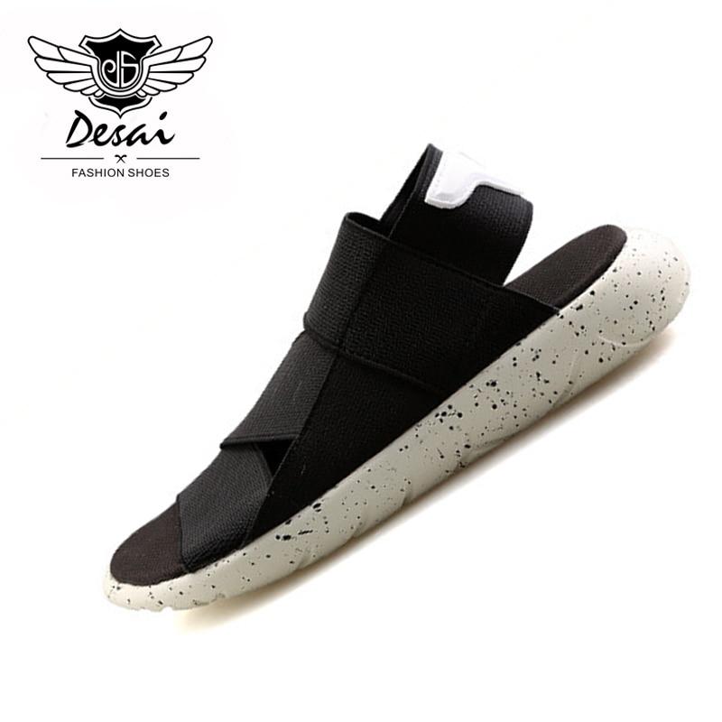DESAI Brand Summer New Fashion Shoes Men Sandals Roman Romance Sandals Personal Wave Mens Beach Shoes Sandalias 2018