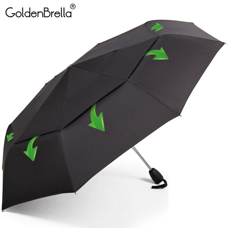 Große Wind Widerstand Regenschirm Für Männer Qualität Doppelschichtkond Klapp Automatische Regenschirm Regen Frauen Reise Kompakte Regenschirm Großhandel