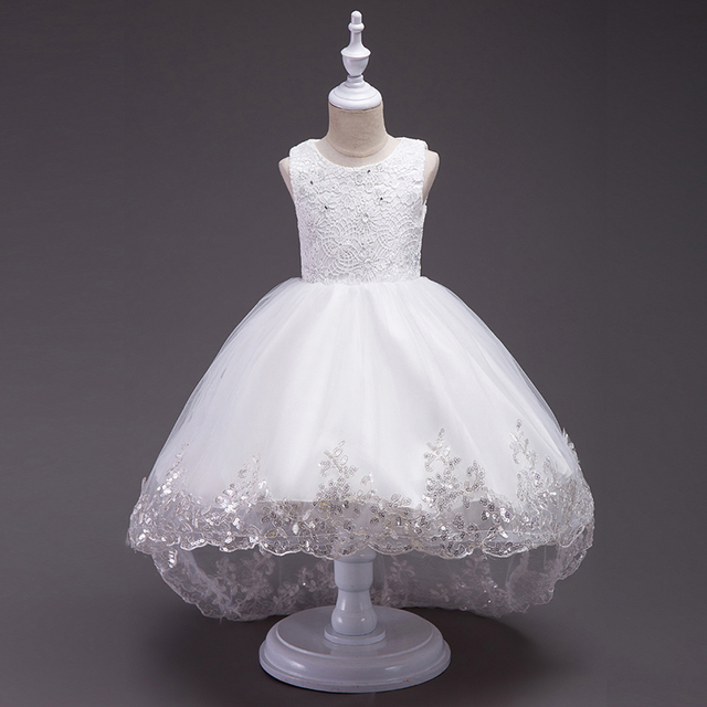 fb8785ee262 Kids Baby Flower Girl Bow Princess Dress for Girls Party Wedding Bridesmaid  Gown