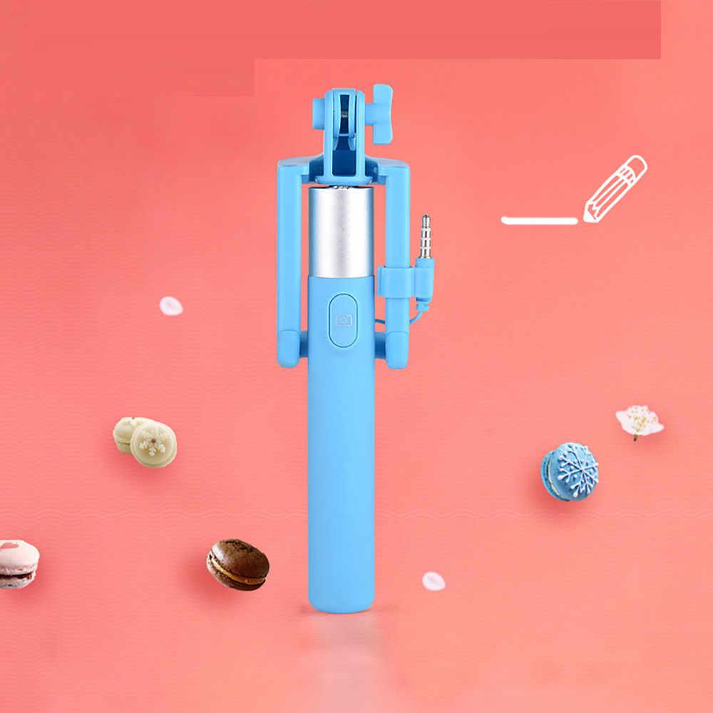 Newcarprie Baru Panas Dapat Diperpanjang Handheld Self-Portrait Tripod Monopod Stick untuk Ponsel Pemegang Telepon Aksesoris