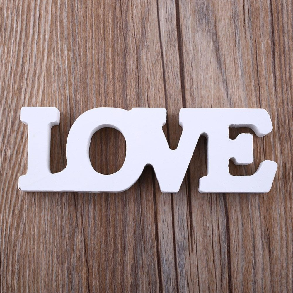 Wooden Letter Sign Woody Letters Wood Romantic English Alphabet