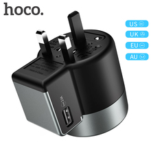 HOCO Universal Travel USB Charger for Samsung S10 S9 iphone Whirl 2 AC Power Portable Phone Adapter EU US UK AU Plug