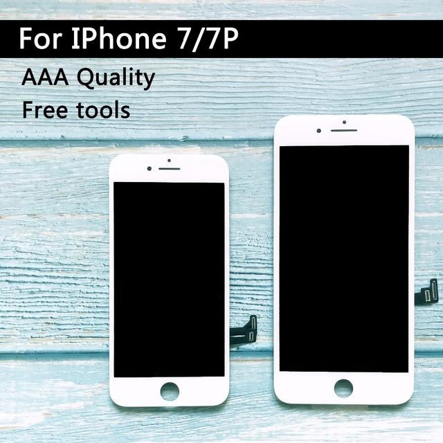 مصنع بيع استبدال LCD ل iphone 7 زائد LCD شاشة عرض مجموعة رقمنة اللمس ل iphone 7 LCD شاشة AAA جودة