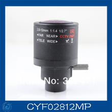 cctv camera lens2.8-12mm Fixed Iris lens, 1/2.7″  14 Mount  Fixed F1.4  for Security Camera.CYF02812MP