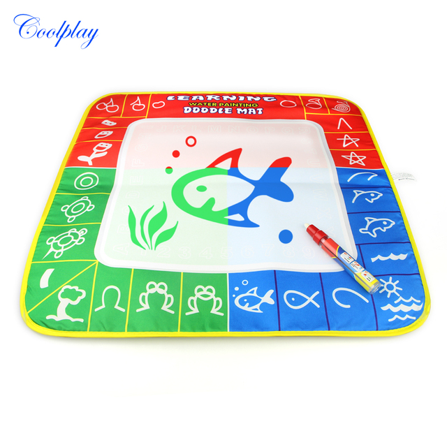 49X48cm 3 color Magic Water Drawing Mat Coloring Board with 1 Magic ...