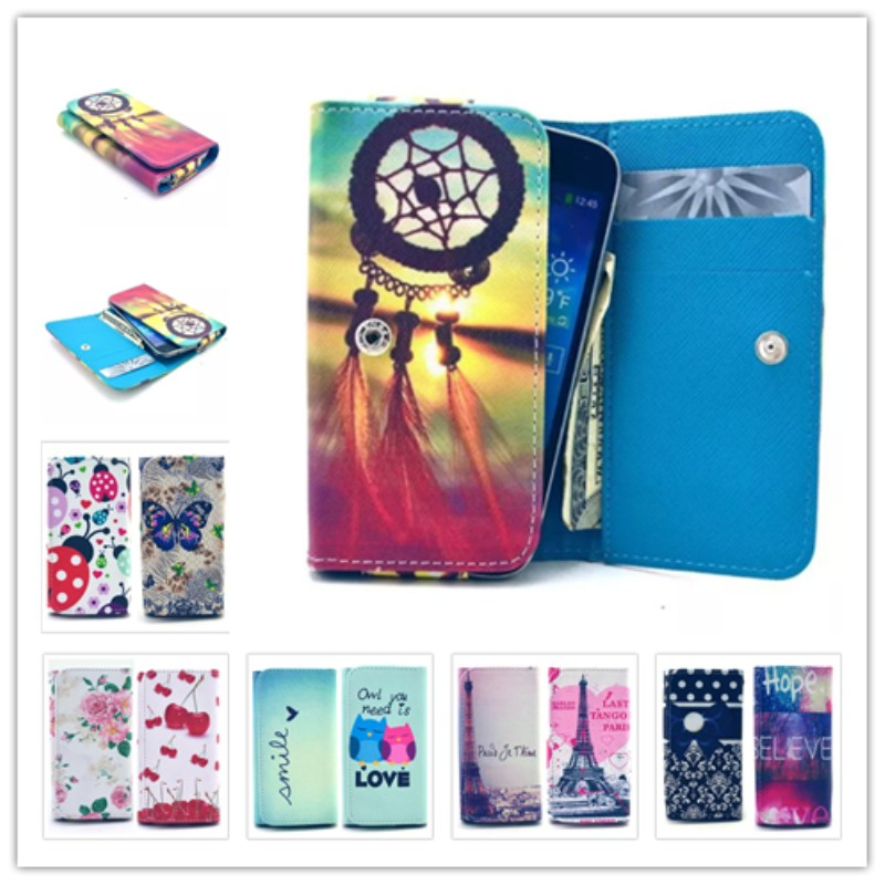 2015 New item Painting Leather Phone Cases For QMobs