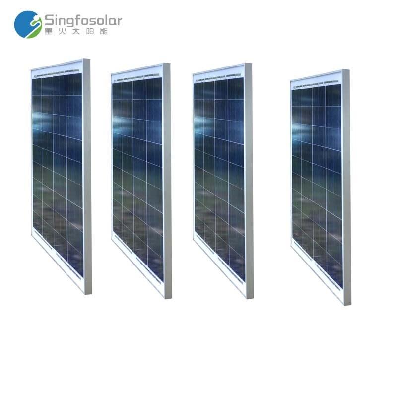 Panneau solaire 12 v 50 w 4 pièces Panneaux Solaires 48 v 200 w solaire système domestique Batterie Camping Voiture Marine téléphone Mobile toit Voiture