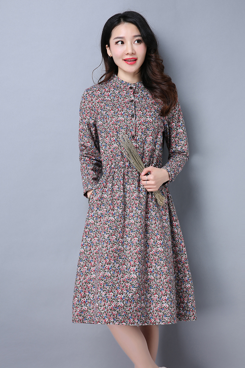 Compare prices on flower maternity dresses online shoppingbuy maternity dress 2017 spring new long sleeved floral flower in a long section of 100 ombrellifo Gallery
