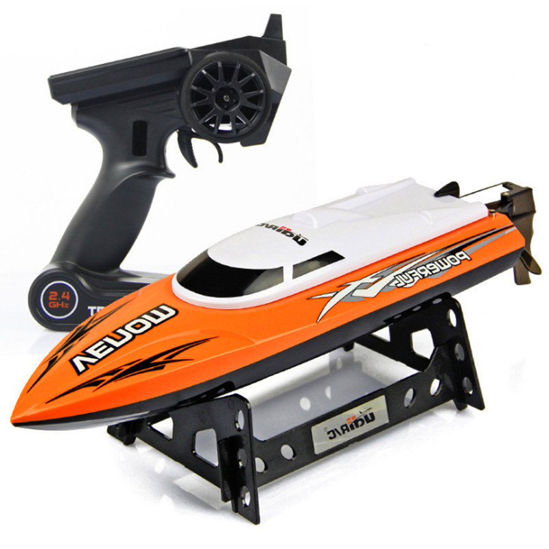 Image 3 - 30KM/H High Speed Mini RC Boat 2.4GHZ 4CH Radio Remote Control Speedboat For Fishing Ship Bait Boat Electric RC Toys For Gifts-in RC Boats from Toys & Hobbies