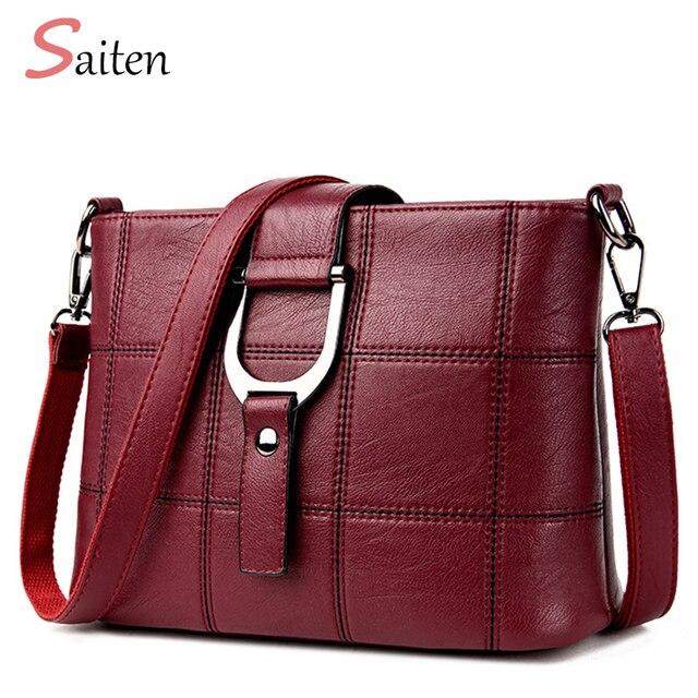 Роскошные Для женщин Курьерские сумки дизайнерские женские сумка 2017 брендовые кожаные Сумки на плечо сумка SAC основной Femme Nouvelle коллекция