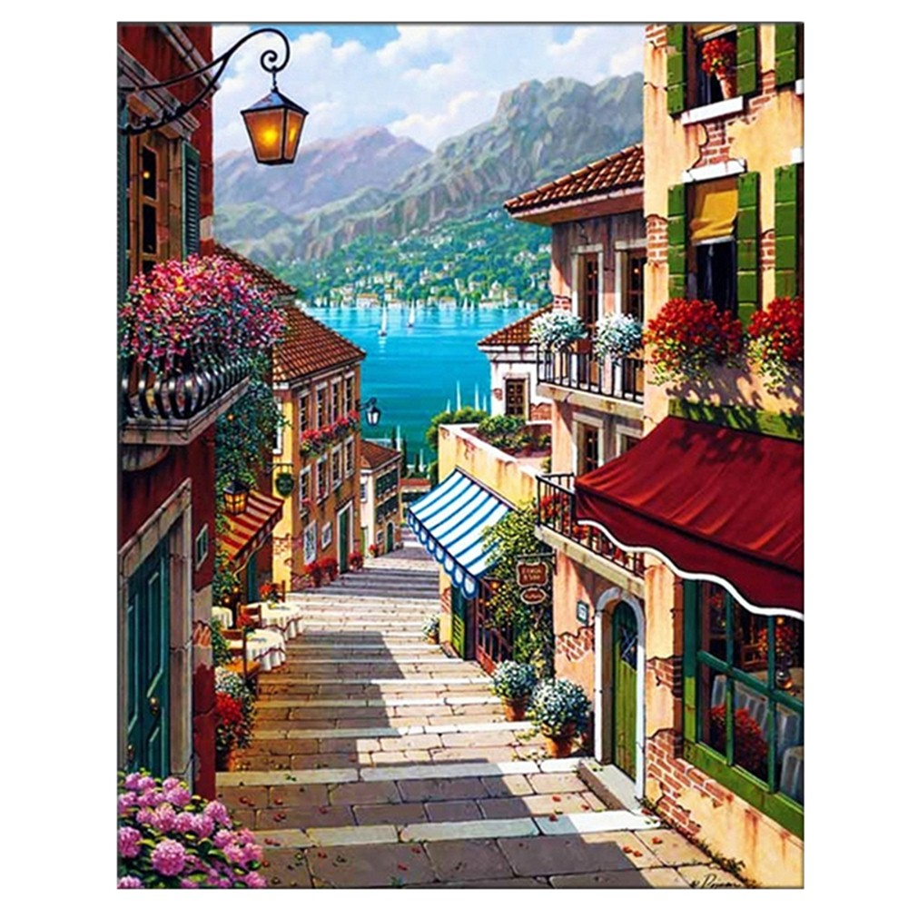 Online buy wholesale mediterranean art from china for Digitally paint your house