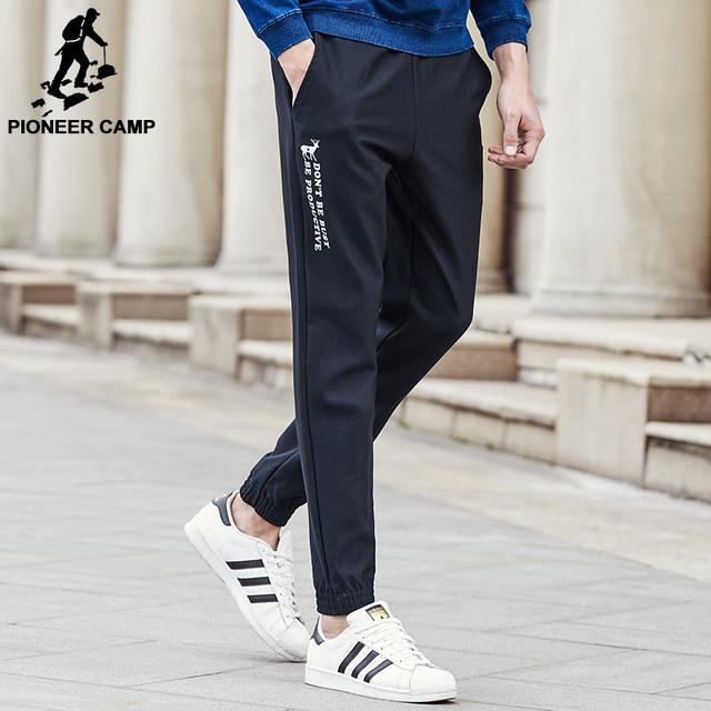 Pioneer camp nuevo correo chándal otoño primavera pantalones casuales hombres ropa de la marca de moda negro pantalones de chándal para los hombres 677191