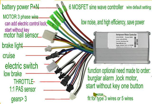 Online-Shop 24v36v48v 250w350w 6 mosfet sinus bldc-motor controller ...
