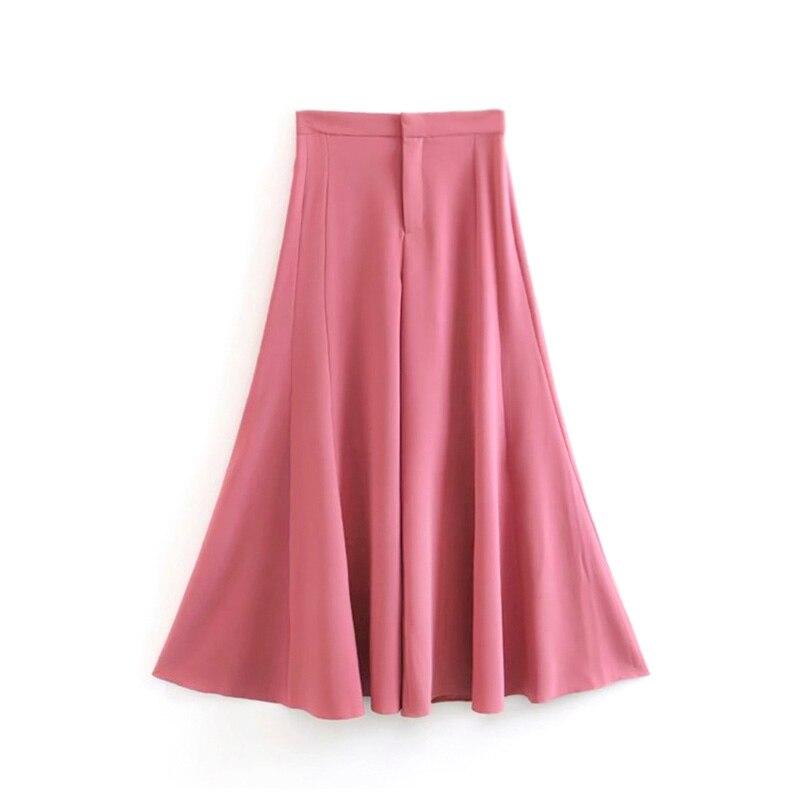 Rue Femme Longueur Hanche Frais Mince Automne Pantalon Élégant Couleur 2017 Haute Rose Pleine Taille Ample Essential qz7xPwa0S