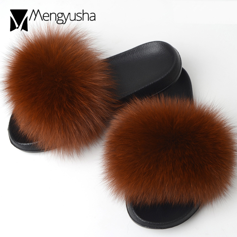 45-Fur Slipper Sandals Women Designer Famous Flip-Flops Muffin Mixed-Color C406 Slides