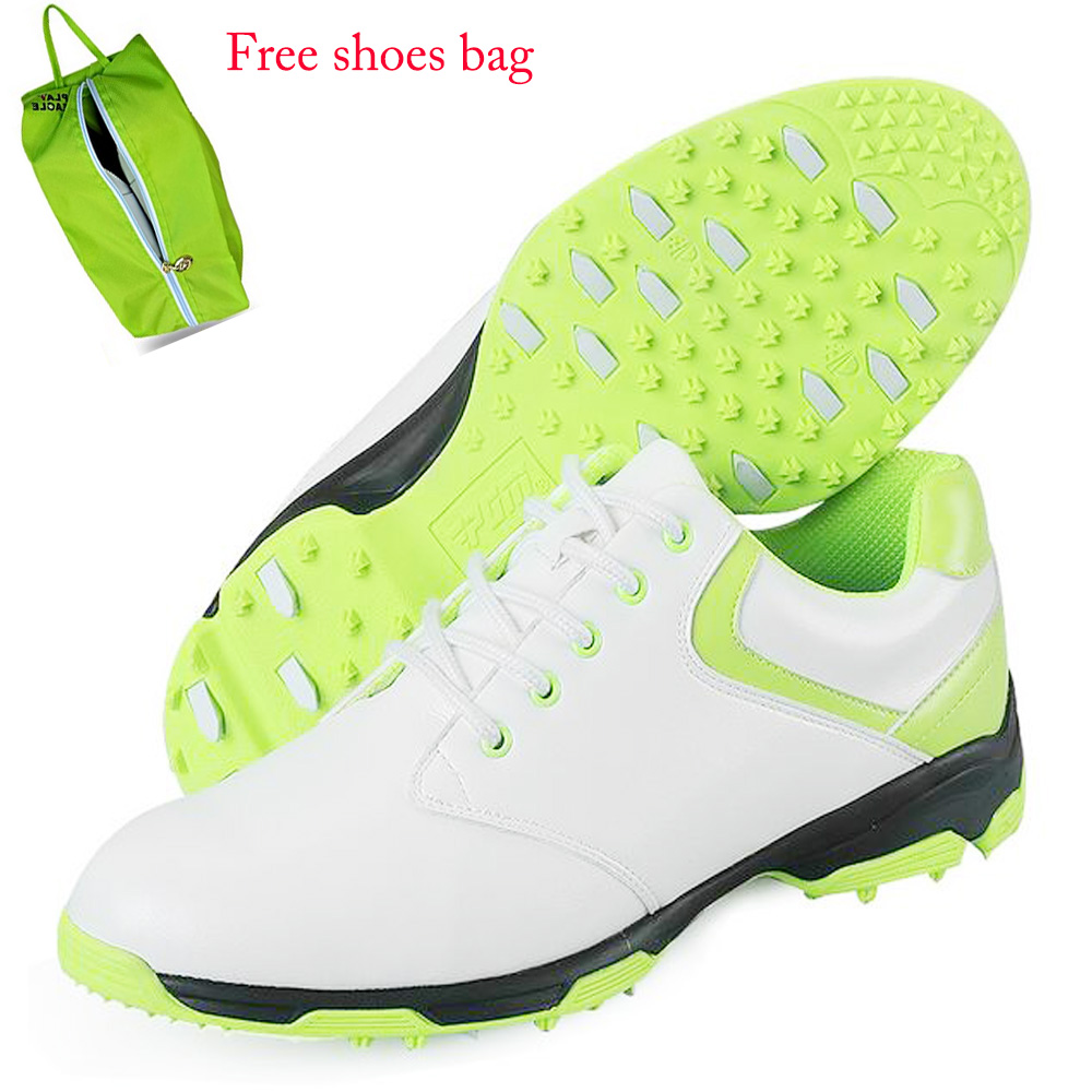 2017 Men's Super Fiber Leather Ultra Golf Shoes Anti-skid Waterproof EVA Interlayer Breathable Sports Sneakers with US Size 7-9 microfiber leather breathable waterproof patent men sport shoes activities nail anti skid good grip resistant golf shoes