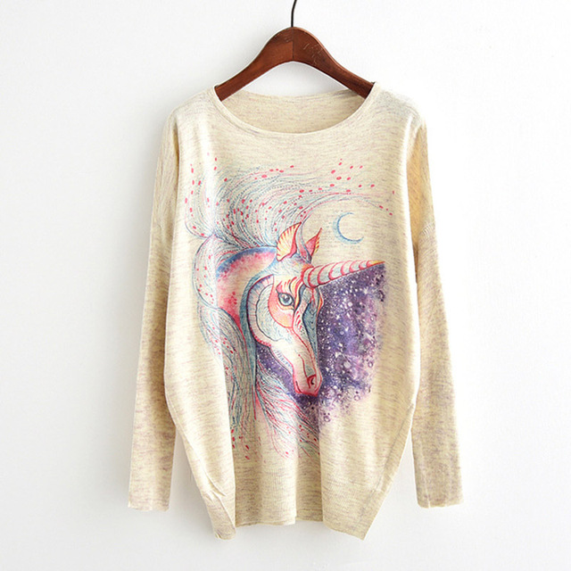 CUTE UNICORN SWEATSHIRT (2 VARIAN)