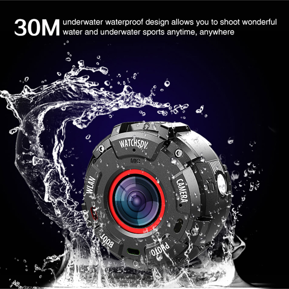 Action Camera Full HD 1080P 30 meter Waterproof 8MP Sports Video Cam Wide-angle Lenses with Watch Band Wifi Connect 2