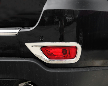 Car Styling 2PCS ABS Chromed Rear Fog Light Lamp Cover Trim For Jeep Grand Cherokee 2014 2015 2016 2017 2018