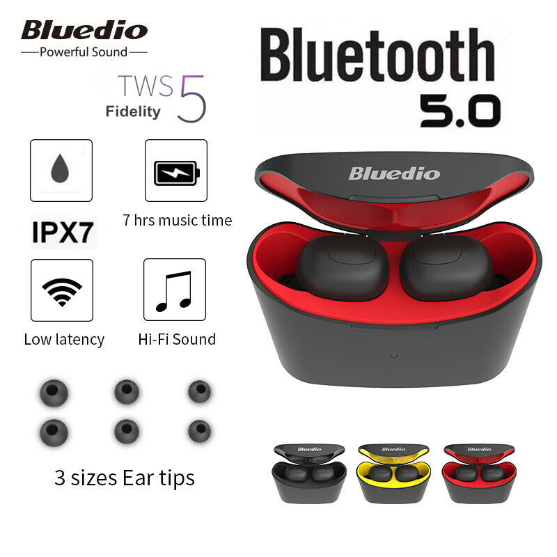 Wireless Bluetooth Earphones, Portable Bluetooth 5.0 Headset <font><b>TWS</b></font> Wireless Headphones, Lossless Noise Reduction Mini Earbuds Ster image