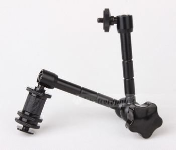 11Inch / 290mm Magic Arm DSLR Rig Camera Camcoder LCD Monitor Flash Light 1/4 Female Male Screw Socket Accessories