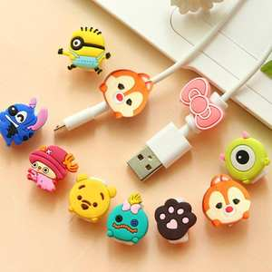 Protector Cable-Winder-Protective-Case-Saver Earphone Data-Line Cartoon Charger Sleeve-Cover