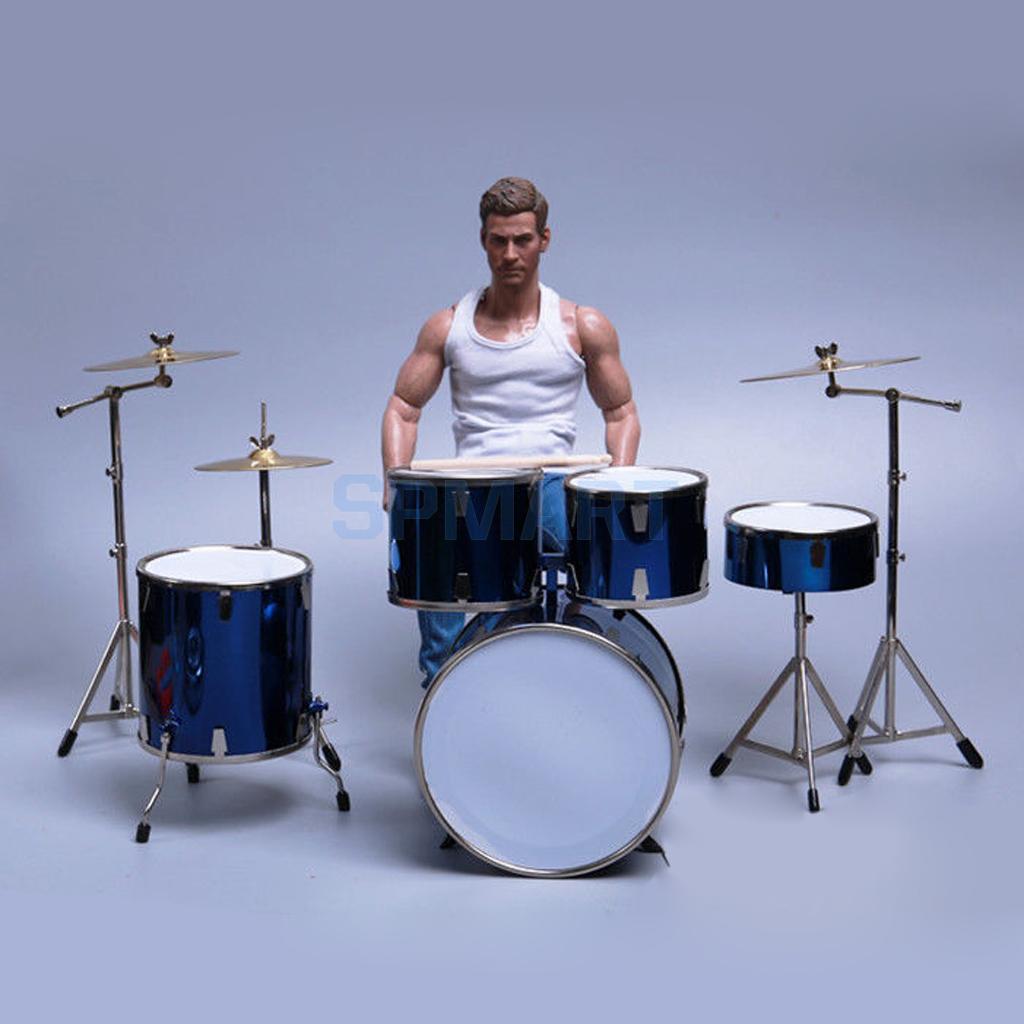 1//6 Miniatur Schlagzeug Set Musikinstrument Modell Für 12/'/' Action Figur