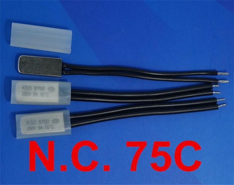 Manuel 20pcs Reset Interrupteur à température 170 ° C NC Bimétallique disque KSD301 Céramique Corps