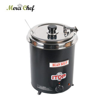 ITOP 5.7L Soup Pot 300W Electric Soup Ketter Wet Heat Food Warmer Commercial Stainless Steel Pot For Buffet Restaurant 110V-240V dh6p display food warmer for kfc restaurant
