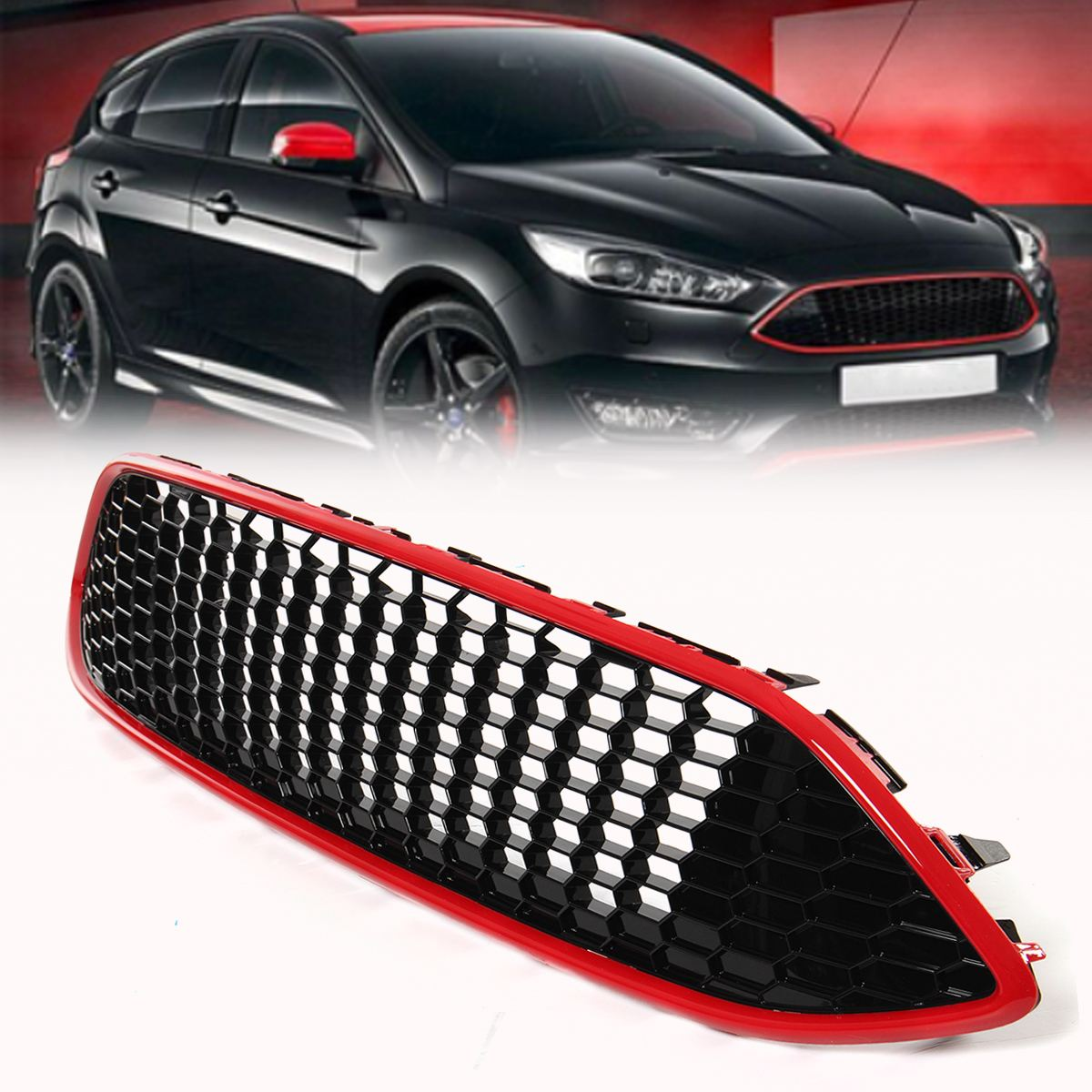 Spary Painted Honeycombed Nest Bee Grille Grill For Ford For Focus MK3 ST wiper blades for ford focus mk3 international model 28
